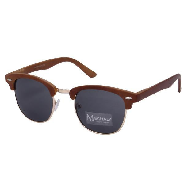 Mechaly Clubmaster Style Brown Sunglasses-Womens Sunglasses-Mechaly-Unicorn Goods