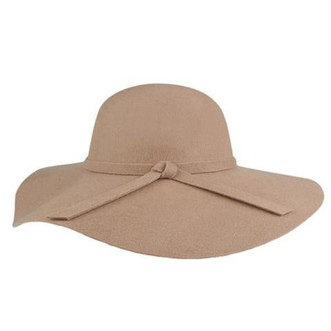 Mechaly Eva Fedora in Beige-Womens Hat-Mechaly-Unicorn Goods