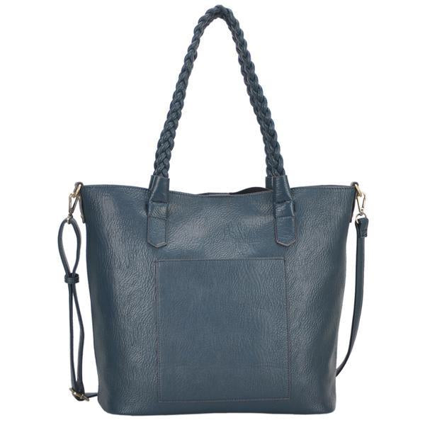 Mechaly Evie Tote Handbag in Teal-Womens Tote-Mechaly-Unicorn Goods
