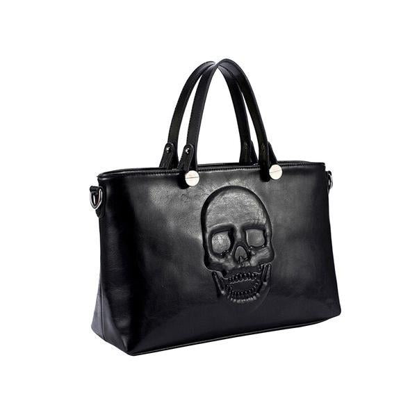 Mechaly Skull Handbag in Black-Womens Purse-Mechaly-Unicorn Goods