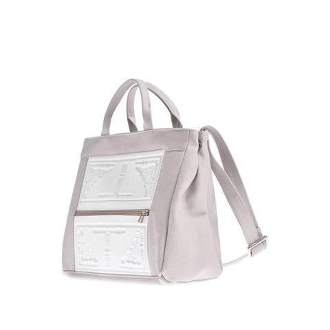 MeDusa Asia Shoulder Bag in White and Beige-Womens Purse-MeDusa-Unicorn Goods