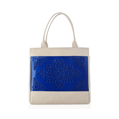 MeDusa Felissya Shoulder Bag in Blue and Beige-Womens Purse-MeDusa-Unicorn Goods