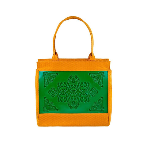 MeDusa Felissya Shoulder Bag in Green and Yellow-Womens Purse-MeDusa-Unicorn Goods