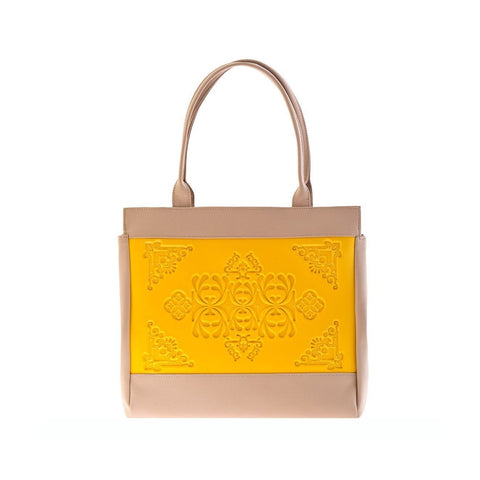 MeDusa Felissya Shoulder Bag in Yellow and Beige-Womens Purse-MeDusa-Unicorn Goods