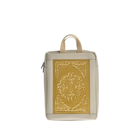 MeDusa Lena Small Backpack in Gold and Beige-Womens Backpack-MeDusa-Unicorn Goods