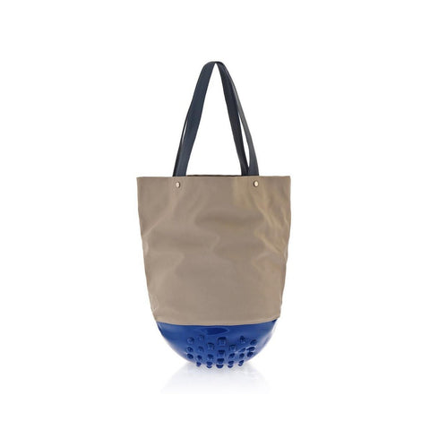 MeDusa London Tote Bag in Blue and Beige-Womens Tote-MeDusa-Unicorn Goods