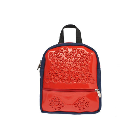 MeDusa Olive Backpack in Red and Blue-Womens Backpack-MeDusa-Unicorn Goods