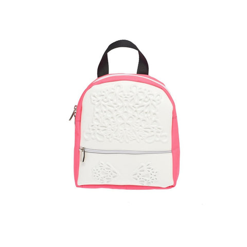 MeDusa Olive Backpack in White and Pink-Womens Backpack-MeDusa-Unicorn Goods