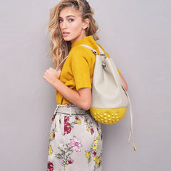 MeDusa Rio Bag in Yellow and Beige-Womens Backpack-MeDusa-Unicorn Goods