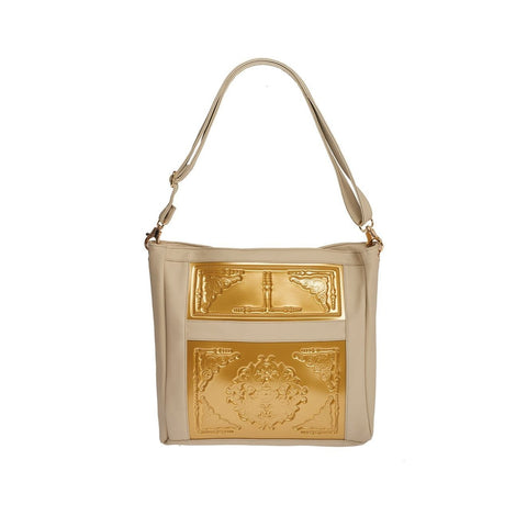 MeDusa Zoe Big Shoulder Bag in Gold and Beige-Womens Purse-MeDusa-Unicorn Goods