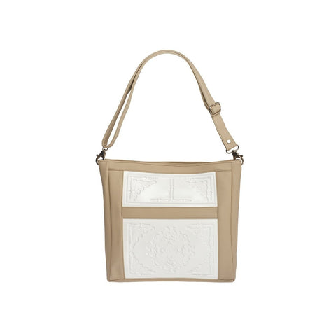 MeDusa Zoe Big Shoulder Bag in White and Beige-Womens Purse-MeDusa-Unicorn Goods