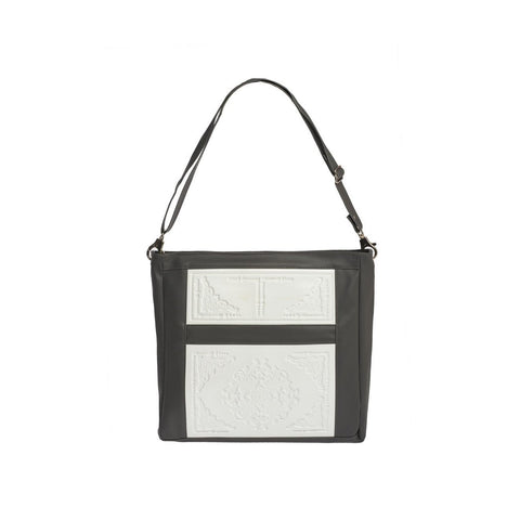 MeDusa Zoe Big Shoulder Bag in White and Grey-Womens Purse-MeDusa-Unicorn Goods