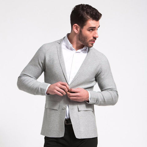 Ministry of Supply Seamless Jacket in Light Grey-Mens Blazer-Ministry-Unicorn Goods