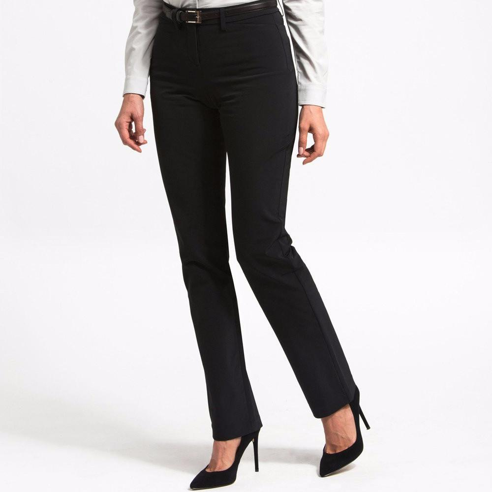 Ministry of Supply Structure Your Day Classic Leg Pants in Black-Womens Dress Pants-Ministry-Unicorn Goods