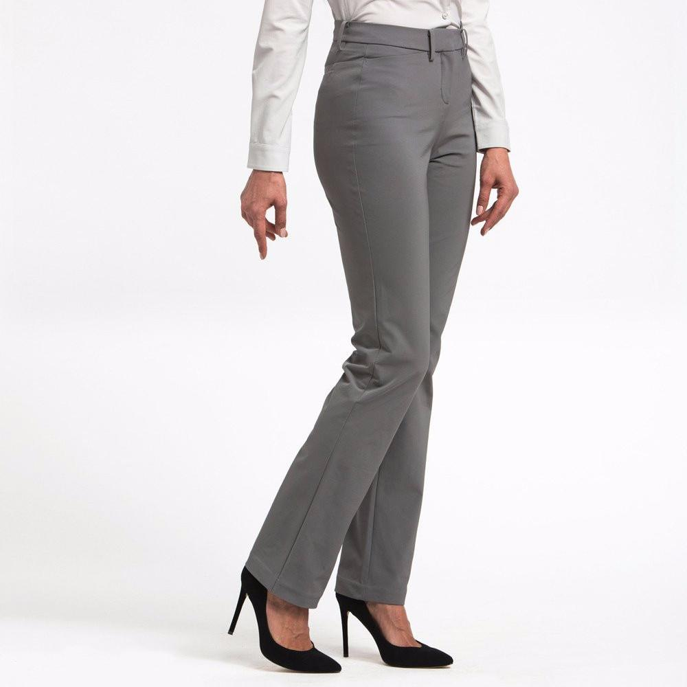 Ministry of Supply Structure Your Day Classic Leg Pants in Charcoal-Womens Dress Pants-Ministry-Unicorn Goods