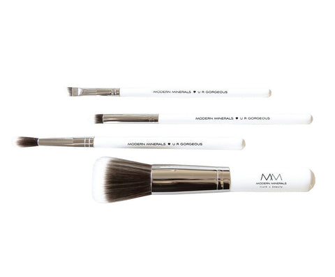 Modern Minerals Makeup Brush Set of 4-Makeup - Brushes-Modern Minerals-Unicorn Goods