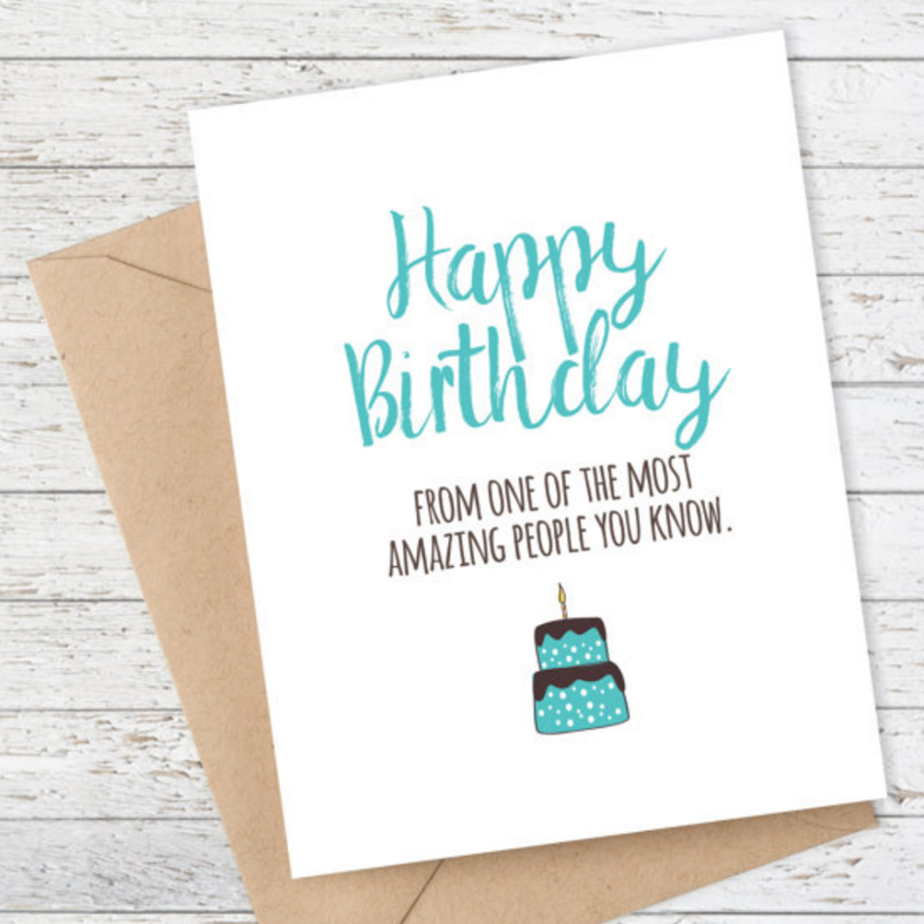 Mooi Lab Happy Birthday From Most Amazing People You Know Card-Card-mooi lab-Unicorn Goods