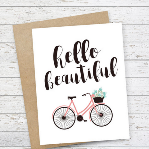 Mooi Lab Hello Beautiful Card-Card-mooi lab-Unicorn Goods
