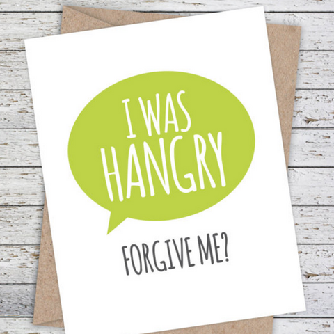 Mooi Lab I was Hangry - Forgive Me Card-Card-mooi lab-Unicorn Goods