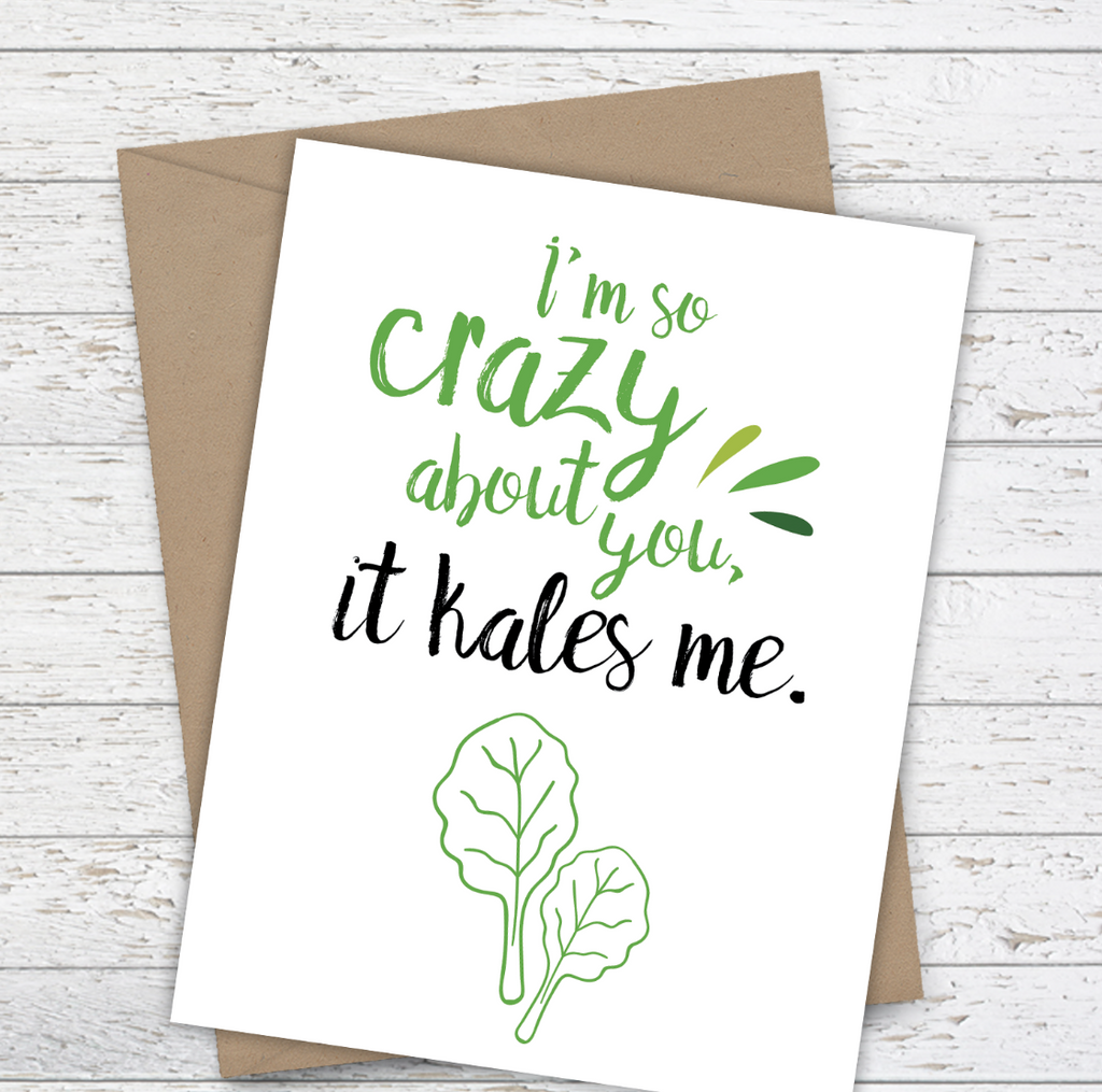 Mooi Lab I'm So Crazy About You It Kales Me! Card-Card-mooi lab-Unicorn Goods