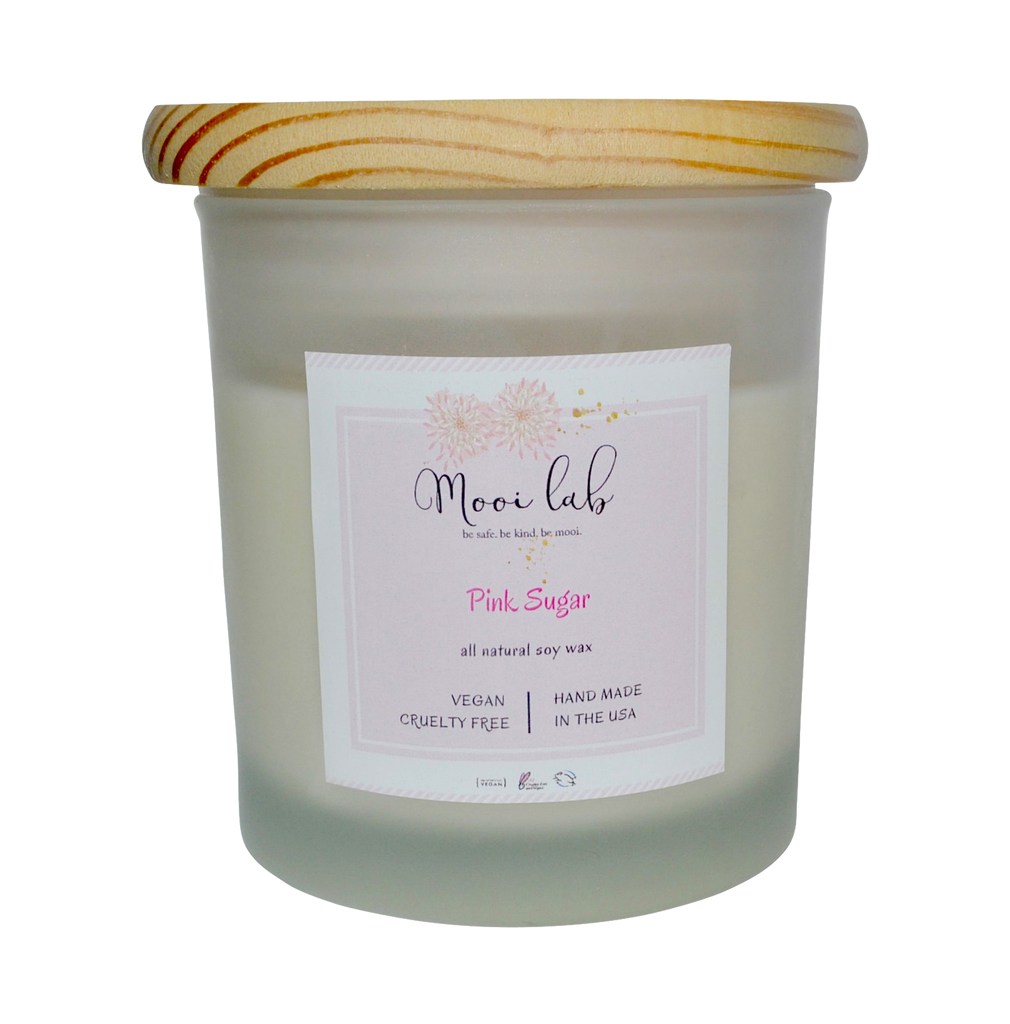 Mooi Lab Pink Sugar Soy Candle-Candle-mooi lab-Unicorn Goods