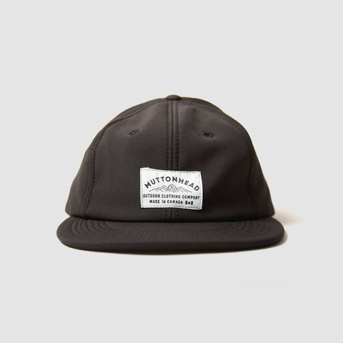 Muttonhead 6 Panel Rain Cap in Black-Unisex Baseball Cap-Amanda Jay-Unicorn Goods