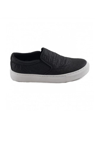 Nae Bare Piñatex Slip Ons in Black-Womens Slip-Ons-Bead and Reel-Unicorn Goods