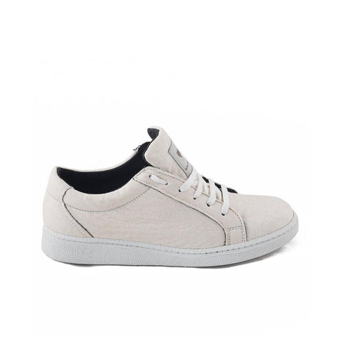Nae Piñatex Basic Sneakers in White-Womens Sneakers-Amanda Jay-Unicorn Goods