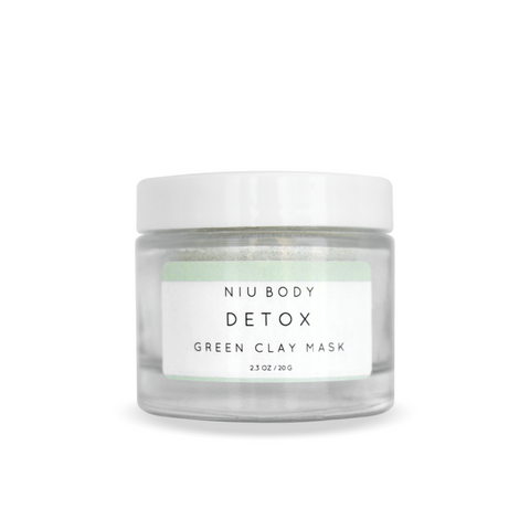 NIU BODY Detox Green Clay Mask-Womens Skincare-NIU BODY-Unicorn Goods