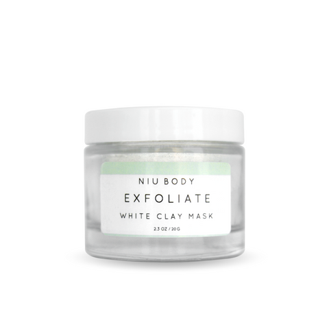 NIU BODY Exfoliate White Clay Mask-Womens Skincare-NIU BODY-Unicorn Goods
