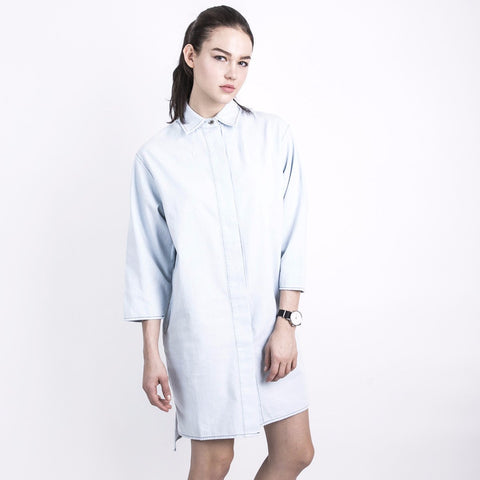 Nois Chambray Dress-Womens Short Dress-Nois-Unicorn Goods