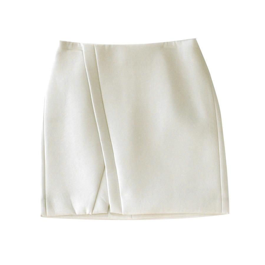 Nois Cream Faux Leather Skirt-Womens Skirt-Nois-Unicorn Goods
