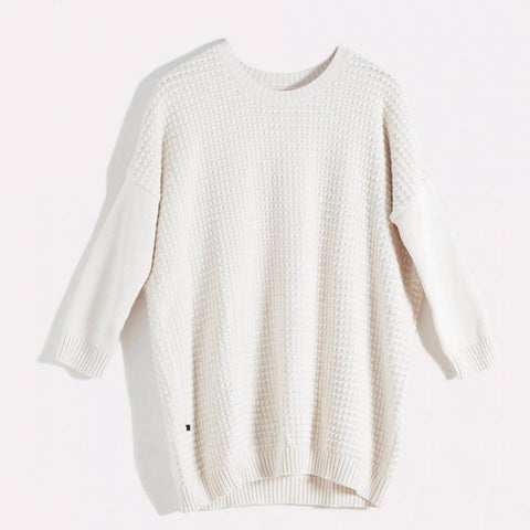 Nois Square Knit Sweater in Off White-Womens Sweater-Nois-Unicorn Goods