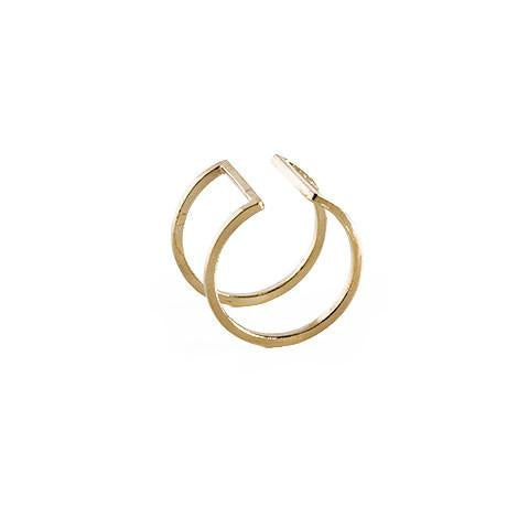 Noise Open Square Ring in Gold-Womens Ring-Nois-Unicorn Goods