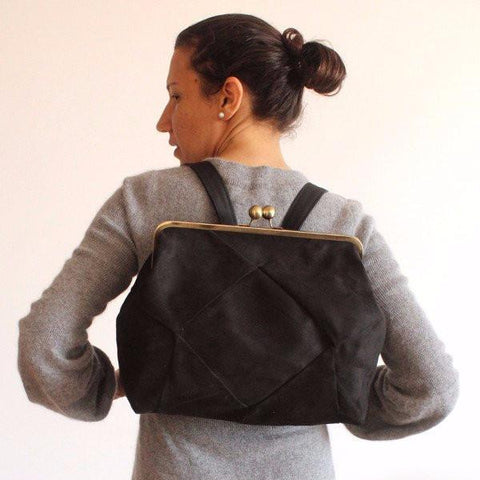 Petrushka Berlin Backpack in Black-Womens Backpack-Petrushka-Unicorn Goods