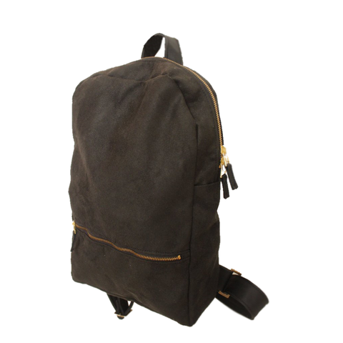 Petrushka Milan Faux Leather Black Backpack-Womens Backpack-Petrushka-Unicorn Goods