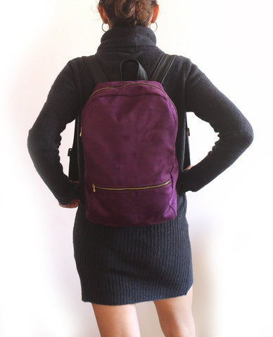 Petrushka Milan Faux Leather Purple Backpack-Womens Backpack-Petrushka-Unicorn Goods