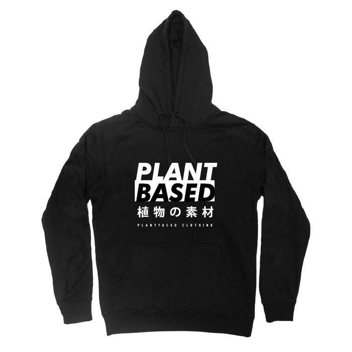 Plant Faced Clothing Plant Based Black Hoody-Unisex Hoody-Plant Faced Clothing-Unicorn Goods