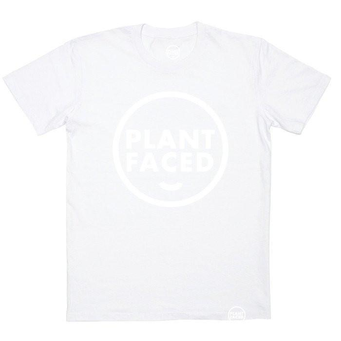 Plant Faced Clothing Plant Based Organic Tee in White-Unisex T-shirt-Plant Faced Clothing-Unicorn Goods