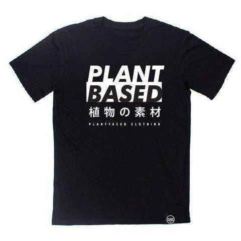 Plant Faced Clothing Plant Based Tee in Black-Unisex T-shirt-Plant Faced Clothing-Unicorn Goods