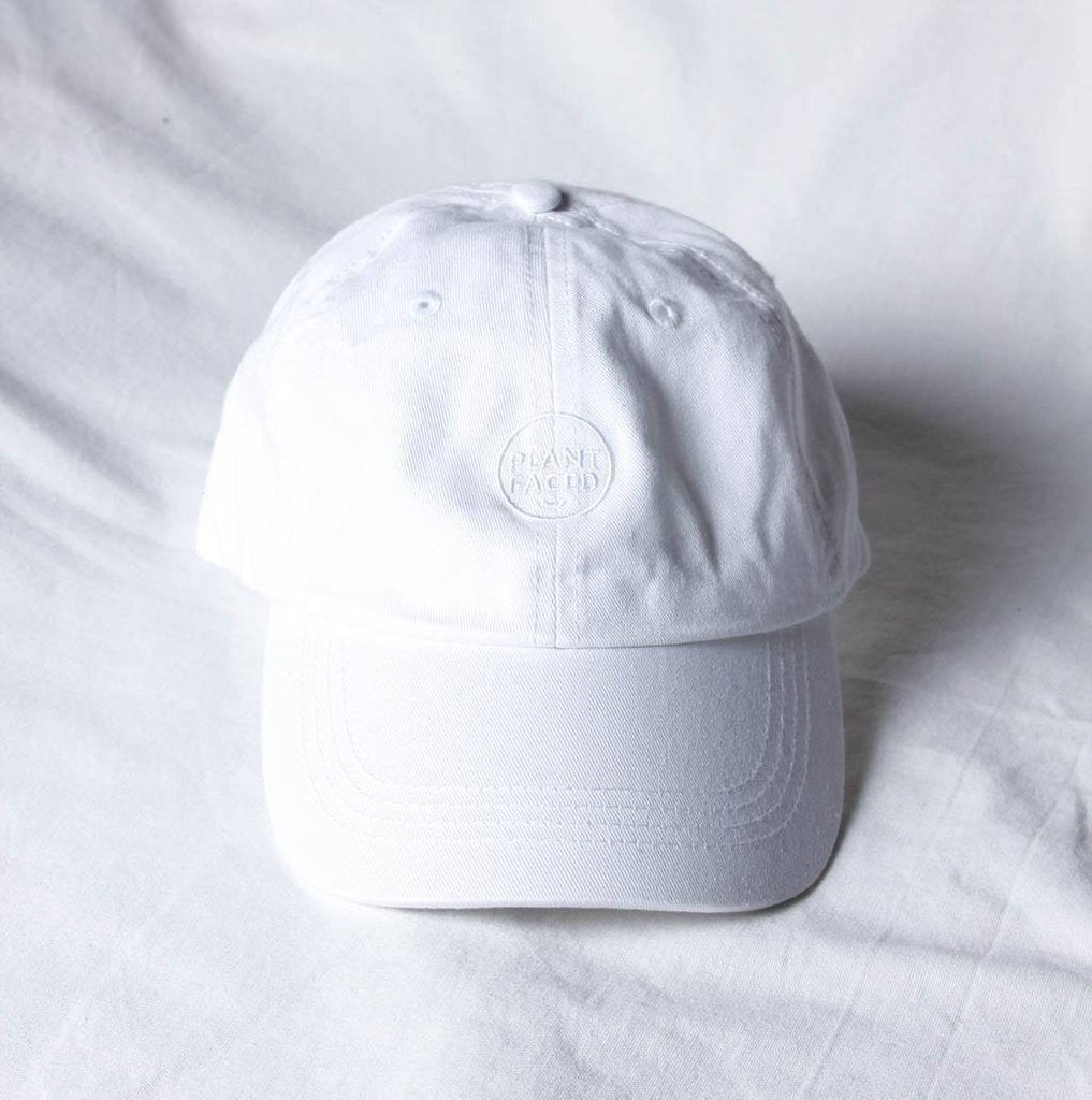 Plant Faced Clothing Plant Faced Dad Hat in All White-Unisex Baseball Cap-Plant Faced Clothing-Unicorn Goods