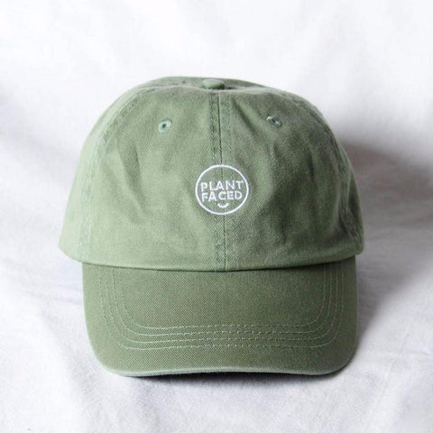 Plant Faced Clothing Plant Faced Dad Hat in Green-Unisex Baseball Cap-Plant Faced Clothing-Unicorn Goods