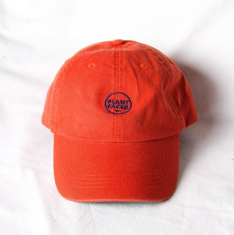 Plant Faced Clothing Plant Faced Dad Hat in Orange-Unisex Baseball Cap-Plant Faced Clothing-Unicorn Goods