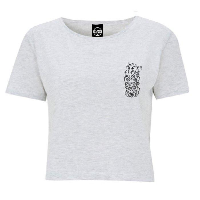 Plant Faced Clothing Plant Life Classic Crop Top in Heather Grey-Womens T-shirt-Plant Faced Clothing-Unicorn Goods