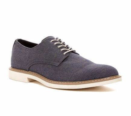 Public Opinion Zane Derby in Charcoal Fab-Mens Dress Shoes-Public Opinion-Unicorn Goods