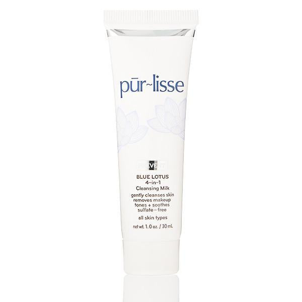 Pūrlisse Blue Lotus 4-in-1 Cleansing Milk (Travel Size)-Womens Skincare-Purlisse-Unicorn Goods