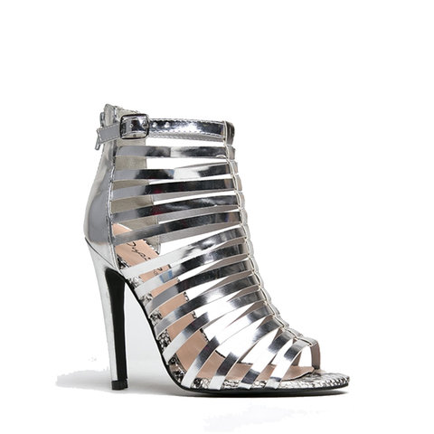 Qupid Interest Sandal Heels in Silver-Womens Heels-Zoo Shoo-Unicorn Goods