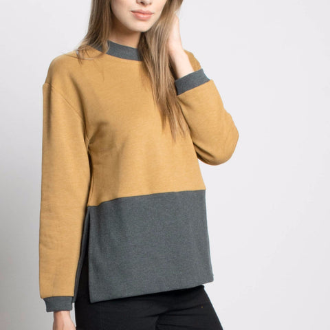 Rakha Maxi Ribbed Sweatshirt-Womens Sweatshirt-Bead and Reel-Unicorn Goods