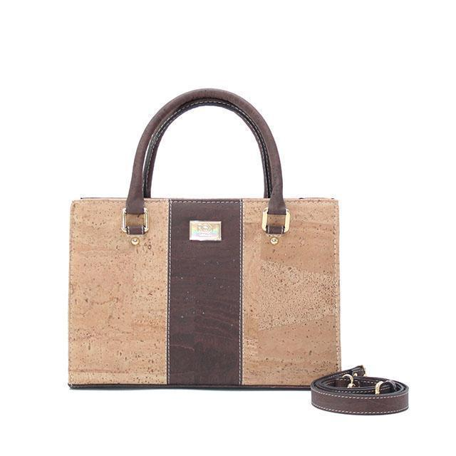 Rok Cork Carolyna Purse in Natural and Brown-Womens Purse-Rok Cork-Unicorn Goods