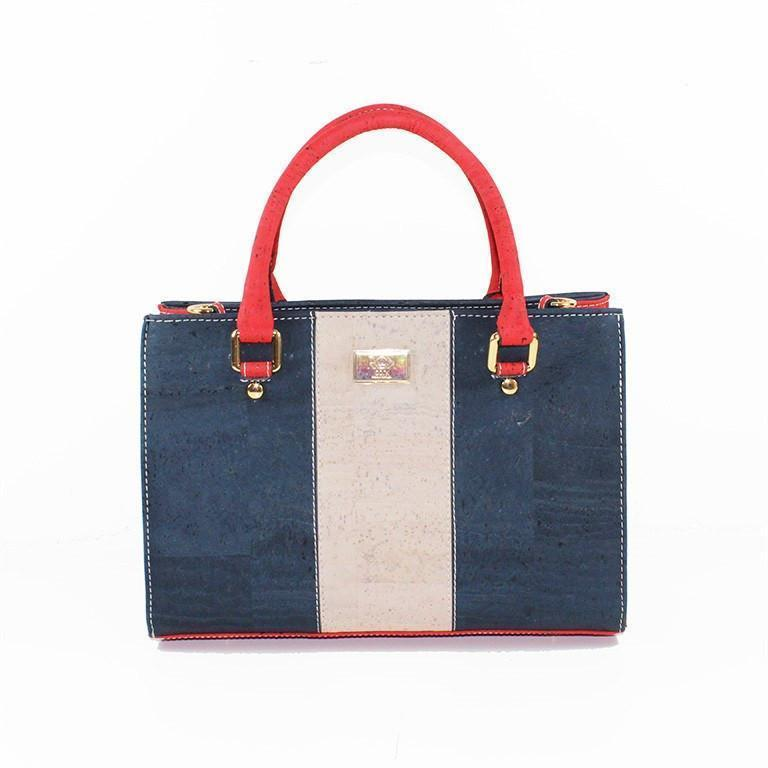 Rok Cork Carolyna Purse in Red, White and Blue-Womens Purse-Rok Cork-Unicorn Goods